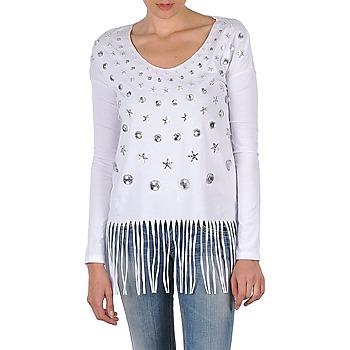 vaatteet Naiset T-paidat pitkillä hihoilla Manoush TUNIQUE LIANE White