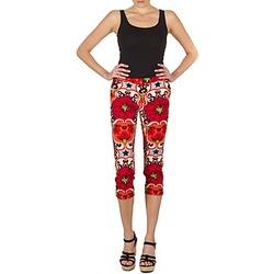 vaatteet Naiset Caprihousut Manoush PANTALON POPPY Red