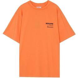 vaatteet Miehet Lyhythihainen t-paita Sixth June T-shirt  barcode orange