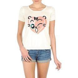 vaatteet Naiset Lyhythihainen t-paita Manoush TEE SHIRT VALENTINE Ecru