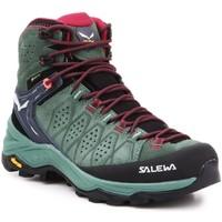 kengät Naiset Vaelluskengät Salewa WS Alp Trainer 2 Mid GTX 61383-5085 olive green