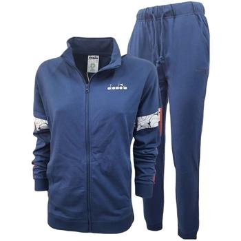 vaatteet Miehet Verryttelypuvut Diadora Fz Core Sininen