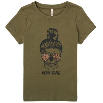 vaatteet Tytöt Lyhythihainen t-paita Only KONKITA Khaki