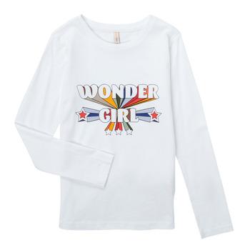 vaatteet Tytöt T-paidat pitkillä hihoilla Only KONTINNA Valkoinen