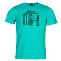 vaatteet Miehet Lyhythihainen t-paita Diesel T-DIEGOS Sininen