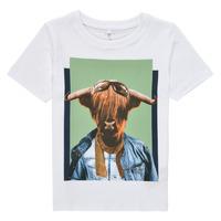 vaatteet Pojat Lyhythihainen t-paita Name it NMMKYLAN SS TOP Valkoinen