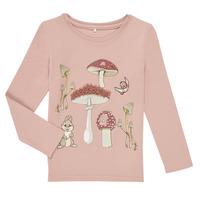 vaatteet Tytöt T-paidat pitkillä hihoilla Name it NMFTHUMPER ALFRIDA LS TOP Violetti