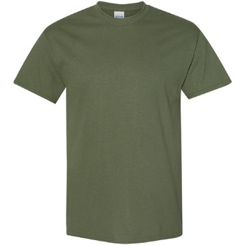 vaatteet Miehet Lyhythihainen t-paita Gildan 5000 Military Green