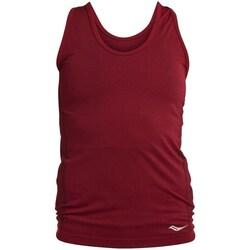 vaatteet Naiset Hihattomat paidat / Hihattomat t-paidat Saucony SAW800099 Tummanpunainen