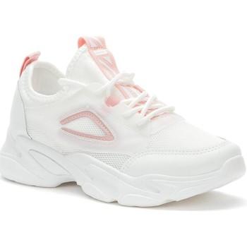 kengät Naiset Matalavartiset tennarit Crosby White Casual Trainers Valkoinen