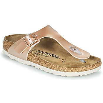 kengät Tytöt Varvassandaalit Birkenstock GIZEH Vaaleanpunainen / Kulta