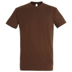 vaatteet Naiset Lyhythihainen t-paita Sols IMPERIAL camiseta color Tierra Beige