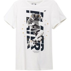 vaatteet Miehet Lyhythihainen t-paita 4F TSM011 Valkoiset