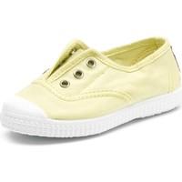 kengät Lapset Tenniskengät Cienta Chaussures en toiles  Tintado jaune pastel