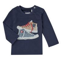 vaatteet Pojat T-paidat pitkillä hihoilla Ikks AURORE Laivastonsininen