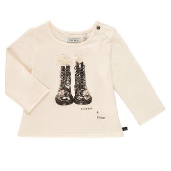 vaatteet Tytöt T-paidat pitkillä hihoilla Ikks PAON Valkoinen