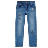 vaatteet Pojat Slim-farkut Ikks VANILLE Sininen