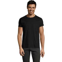 vaatteet Miehet Lyhythihainen t-paita Sols Camiseta IMPERIAL FIT color Negro Negro