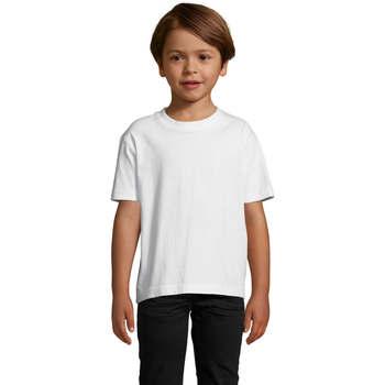 vaatteet Lapset Lyhythihainen t-paita Sols Camista infantil color blanco Blanco