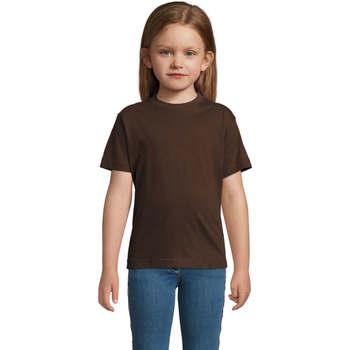 vaatteet Lapset Lyhythihainen t-paita Sols Camista infantil color chocolate Marrón