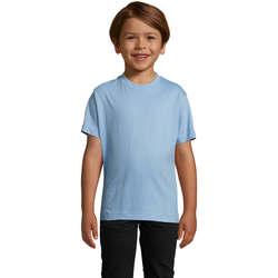 vaatteet Lapset Lyhythihainen t-paita Sols Camista infantil color Azul cielo Azul