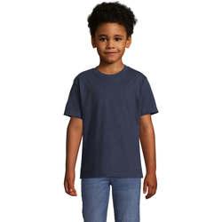vaatteet Lapset Lyhythihainen t-paita Sols Camista infantil color French Marino Azul