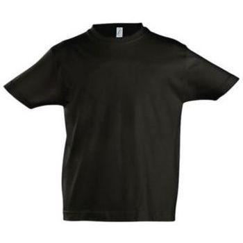 vaatteet Lapset Lyhythihainen t-paita Sols Camista infantil color Negro profundo Negro