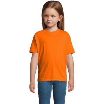vaatteet Lapset Lyhythihainen t-paita Sols Camista infantil color Naranja Naranja