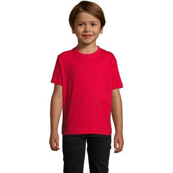 vaatteet Lapset Lyhythihainen t-paita Sols Camista infantil color Rojo Rojo