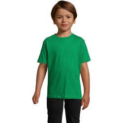vaatteet Lapset Lyhythihainen t-paita Sols Camista infantil color Verde Pradera Verde
