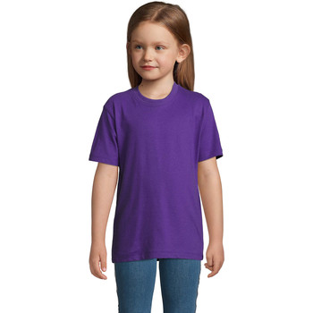 vaatteet Lapset Lyhythihainen t-paita Sols Camista infantil color Morado Violeta