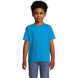 vaatteet Lapset Lyhythihainen t-paita Sols Camista infantil color Aqua Azul
