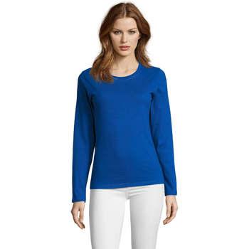 vaatteet Naiset T-paidat pitkillä hihoilla Sols Camiseta imperial Women Azul