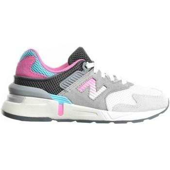 kengät Lapset Juoksukengät / Trail-kengät New Balance 997 Valkoiset, Harmaat