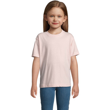 vaatteet Lapset Lyhythihainen t-paita Sols Camista infantil color Rosa médio Rosa