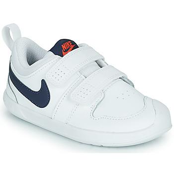 kengät Lapset Matalavartiset tennarit Nike NIKE PICO 5 (TDV) Valkoinen / Sininen