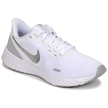 kengät Naiset Urheilukengät Nike WMNS NIKE REVOLUTION 5 Valkoinen / Hopea