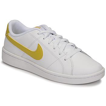 kengät Naiset Matalavartiset tennarit Nike WMNS NIKE COURT ROYALE 2 Valkoinen / Kulta