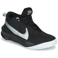 kengät Lapset Korkeavartiset tennarit Nike TEAM HUSTLE D 10 (GS) Musta / Hopea