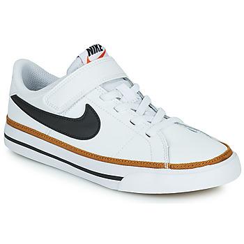 kengät Lapset Matalavartiset tennarit Nike NIKE COURT LEGACY (PSV) Valkoinen / Musta
