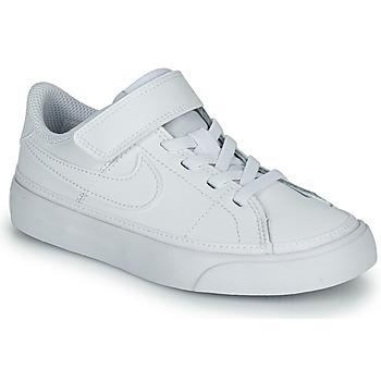 kengät Lapset Matalavartiset tennarit Nike NIKE COURT LEGACY (PSV) Valkoinen