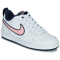 kengät Lapset Matalavartiset tennarit Nike COURT BOROUGH LOW 2 SE1 (GS) Valkoinen / Vaaleanpunainen