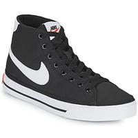 kengät Naiset Matalavartiset tennarit Nike W NIKE COURT LEGACY CNVS MID Musta / Valkoinen