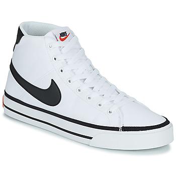 kengät Miehet Korkeavartiset tennarit Nike NIKE COURT LEGACY CNVS MID Valkoinen / Musta