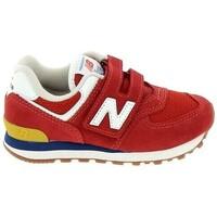 kengät Pojat Matalavartiset tennarit New Balance PV574 C Rouge Punainen