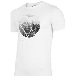 vaatteet Miehet Lyhythihainen t-paita 4F TSM023 Valkoiset