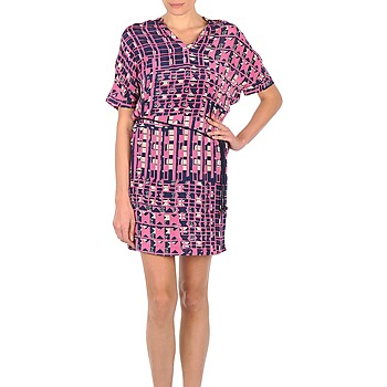 vaatteet Naiset Lyhyt mekko Stella Forest YRO059 Laivastonsininen / Pink