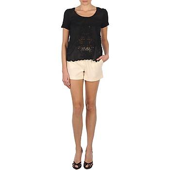 vaatteet Naiset Shortsit / Bermuda-shortsit Stella Forest YSH003 Ecru