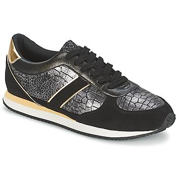 kengät Naiset Matalavartiset tennarit Balsamik LILA Black / Gold