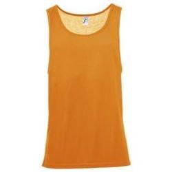 vaatteet Miehet Hihattomat paidat / Hihattomat t-paidat Sols Jamaica camiseta sin mangas Naranja